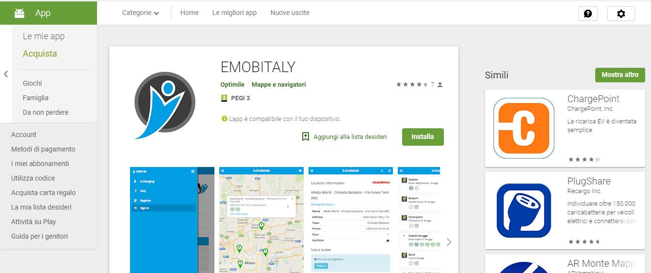 emobitaly screenshot colonnine elettriche per viaggiare